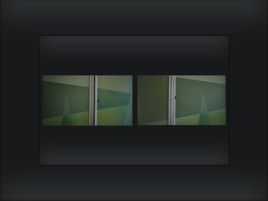 dynamika zieleni fragment szafy płótno naciągnięte na deski, 2008 czerwiec